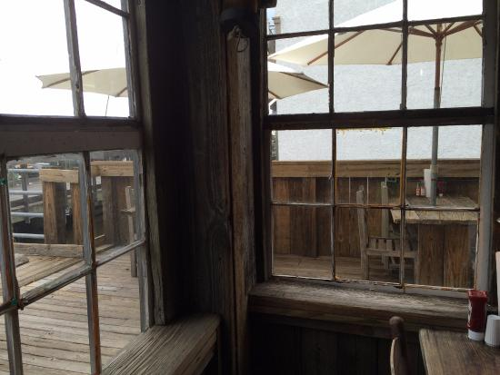 The Old Fish House: View from the Harborwalk Indoor Seating.