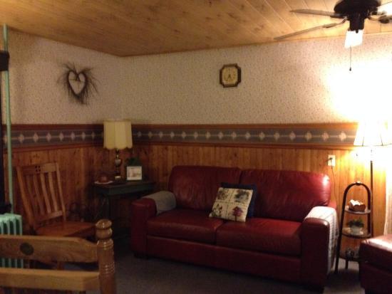 Sitting area at Willowgreen Farm B&B
