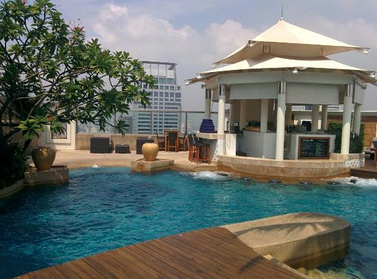 The Rooftop Pool Picture Of Intercontinental Bangkok Bangkok Tripadvisor