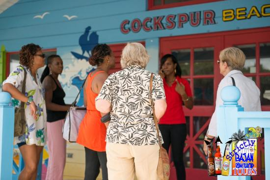 Saint Michael Parish, Barbados: Guest learning about Cockspur Rum