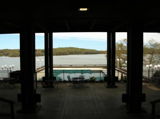 Lake Barkley Lodge View Of Pool And From Under Overhang