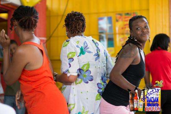 Saint Michael Parish, Barbados: Tour goers getting down to local music
