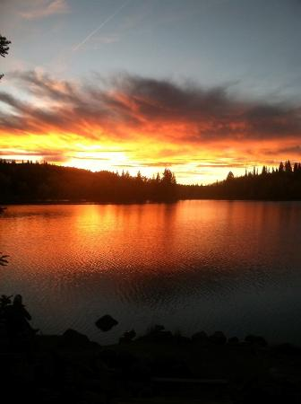 Mesa (Mesa County), CO: Watching the sun go down over Sunset Lake!