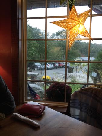 The Watershed Tavern at the Boothbay Craft Brewery: 3 to 5 inches of rain predicted today