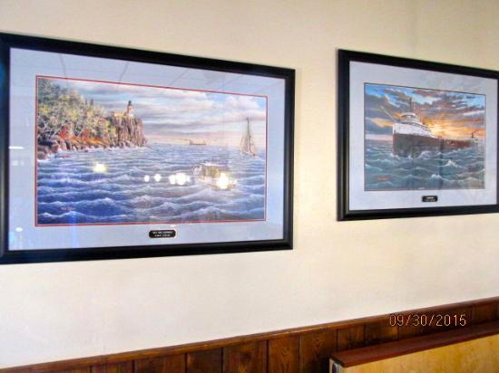 blue water cafe decor - Flat Panel Cafe 2015