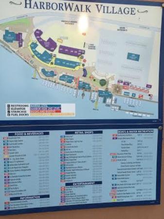 Harbor Boardwalk Map Picture of Destin Harbor Boardwalk Destin