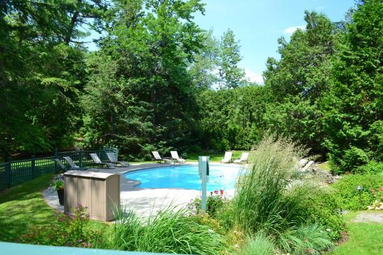 Ayer's Cliff, كندا: Outdoor pool