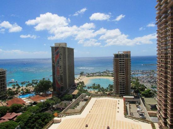 View From Kalia Tower Oceanview Room At Hilton Hawaiian