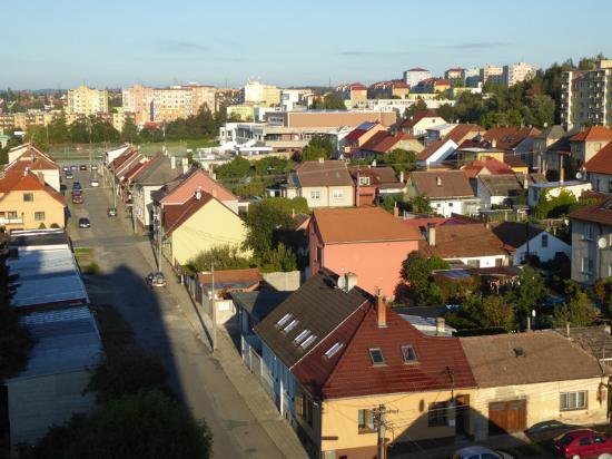 Trebic, جمهورية التشيك: View from the 7. floor balcony
