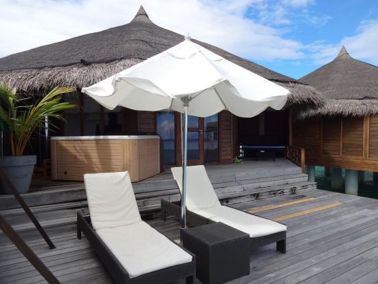 Kuramathi: The water villa with jacuzzi deck