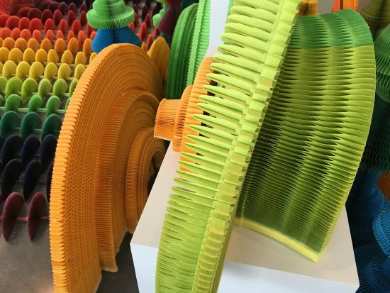 Savannah College of Art and Design: close up of cutout paper shapes by Hongbo