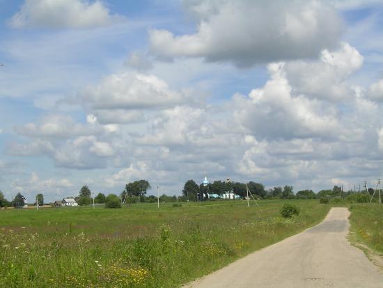 Baryatino, روسيا: Вид с дороги