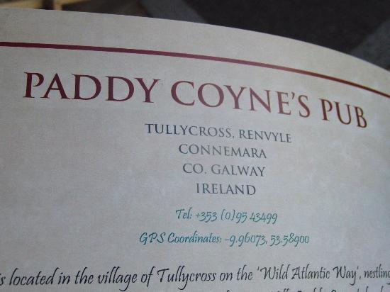Tullycross, Irlanda: Paddy Coyne's