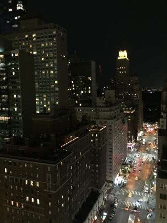 Night view from balcony looking uptown to central park for New york balcony view
