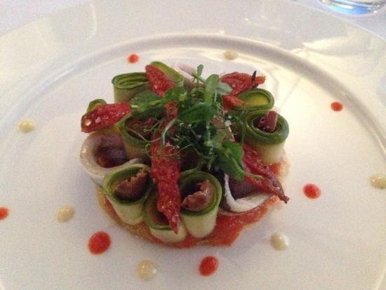 Restaurant L'Or Bleu : Tartelette aux sardines
