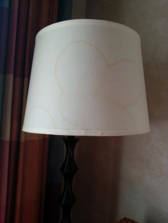 Clarion Hotel and Conference Center: stained lampshade - gross