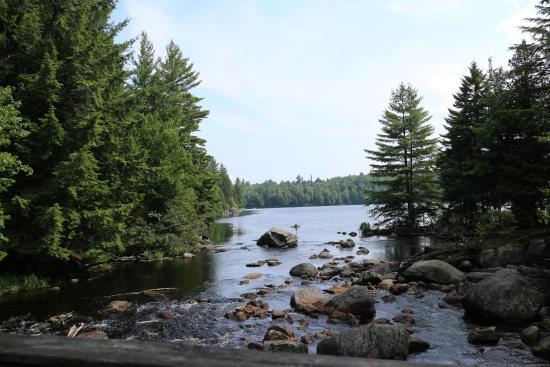 Raquette Lake, NY: view from the bridge