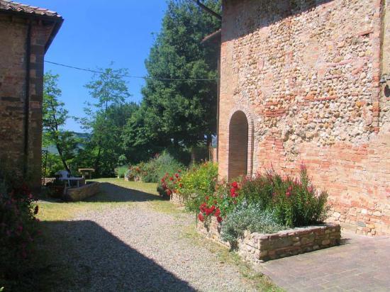 Montespertoli, Italië: Uno dei suggestivi percorsi per raggiungere gli alloggi