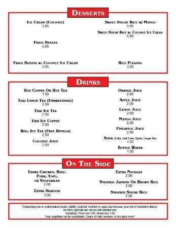 Thai Restaurant Groton Ct Menu