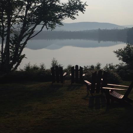 Raquette Lake, estado de Nueva York: view from the dining room