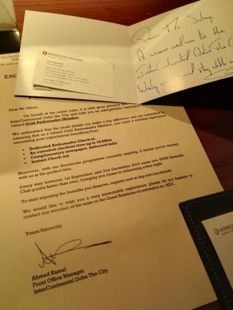 Welcome Letter And General Manager