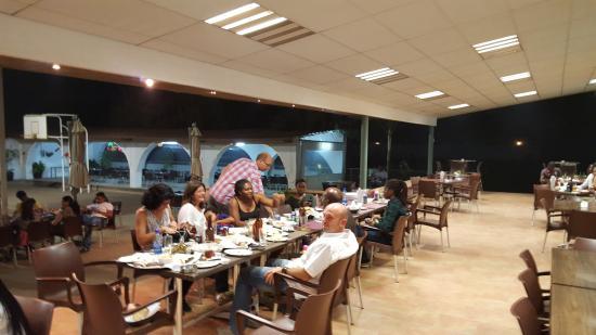 Taverna Communaute Hellenique: Terrase beside the sport field