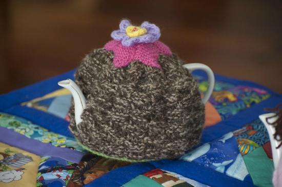 Raetihi, New Zealand: Funky tea cosies by Marian Ryan