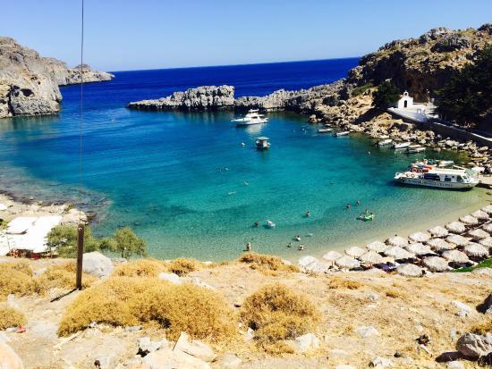plage - Photo de Agios Pavlos Beach (Saint Paul), Lindos ...