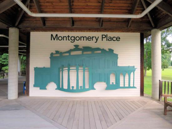 Montgomery Place: Pavilion at parking lot.
