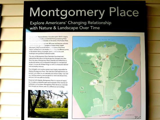 Montgomery Place: Description of site in pavilion - it is a large property!