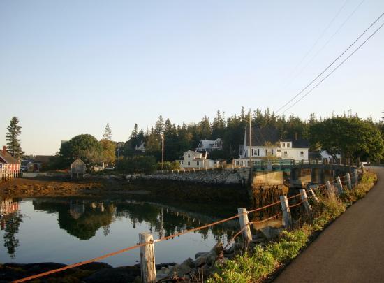 7 am sunrise view of portion of Carver's Harbor, Vinalhaven, ME