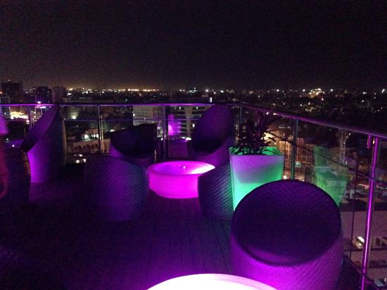 High rooftop bar