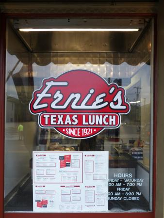 Ernie's Texas Lunch: Front Window