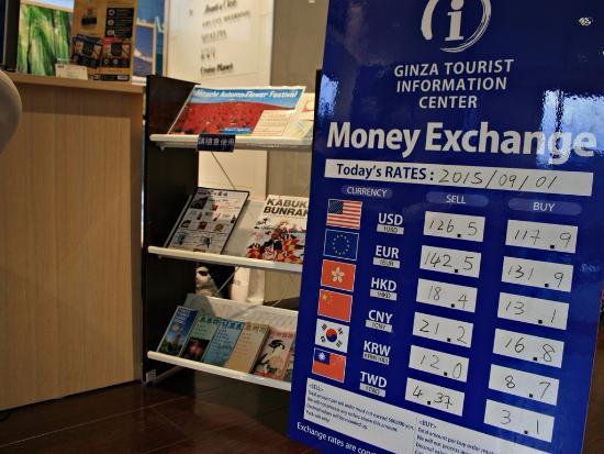 H I S Tokyo Tourist Information Center Ginza Money Exchange N Western Union