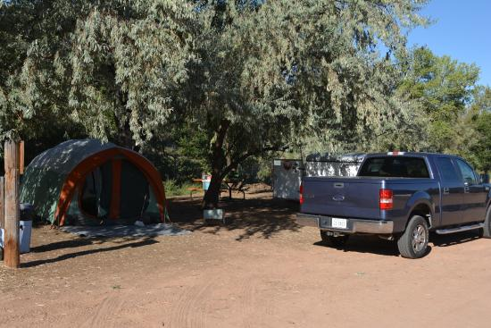 Tent sight at Pack Creek Campground, Moab UT