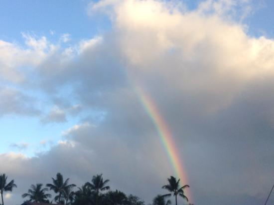 One Napili Way: Rainbow in front of property