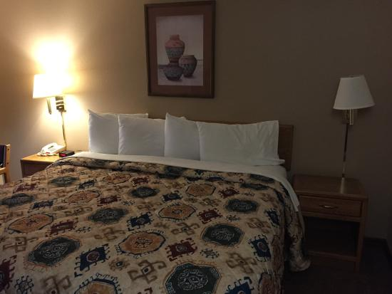 Ridgway-Ouray Lodge & Suites: Comfy Bed, Small Room.