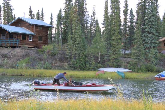 Iniakuk Lake Wilderness Lodge: Our lake transportation