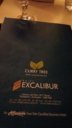 Hotel Excalibur: Restaurant Menu