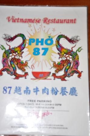 Pho 87 Restaurant