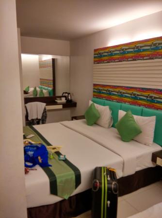 The Cozi Inn : kamar dengan 3 tempat tidur