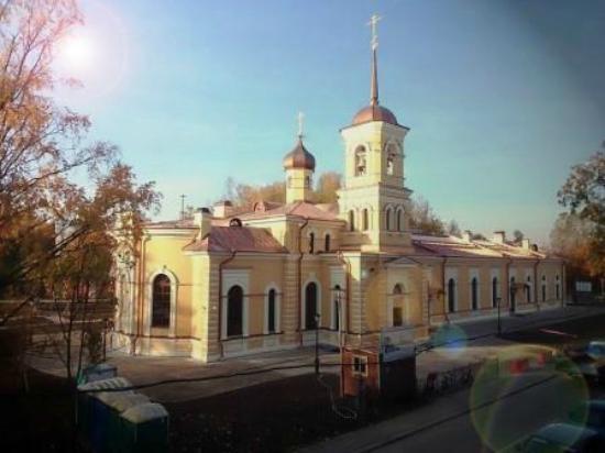 Pushkinsky District, Russie: Церковь Святого Преподобного Сергия Игумена Радонежского. Вид