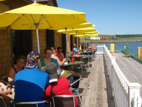Beachcombers on the Wharf : Can't get any closer to the water than this without a snorkel.