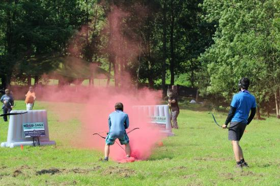 Archery Encounter & Smoke Grenades - Picture of Wood-Sage