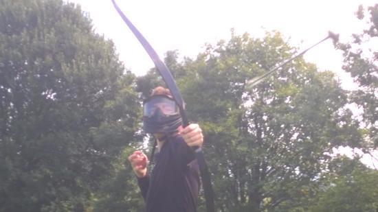 Great Harwood, UK: Action shot on Archery Encounter
