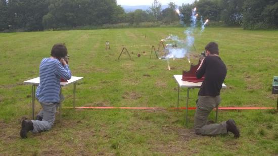 Great Harwood, UK: Outdoor range - Air Rifle Shooting - Explosive Targets!