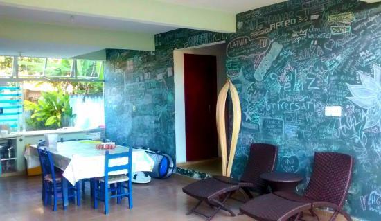 Ecotrip Hostel: Cozinha e área comum
