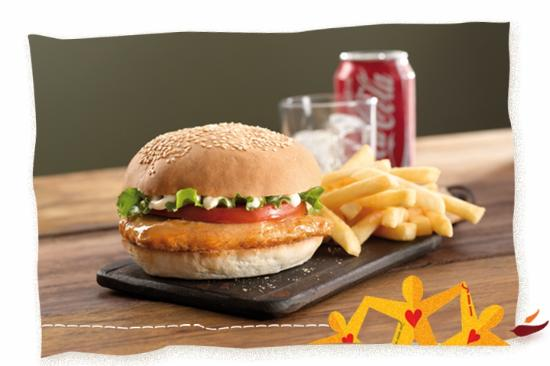 Arcadia, Afrique du Sud : Nando's Chicken Burger with Chips