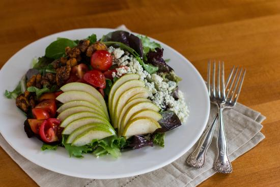 The Bluebird: Pear Salad served with a roasted pear vinaigrette