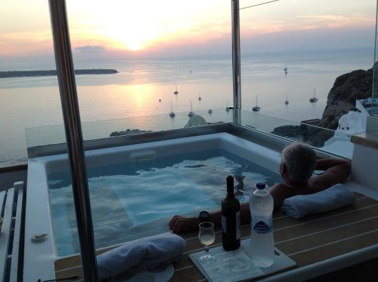 Art Maisons Luxury Santorini Hotels As Oia Castle The Private Jacuzzi Pool
